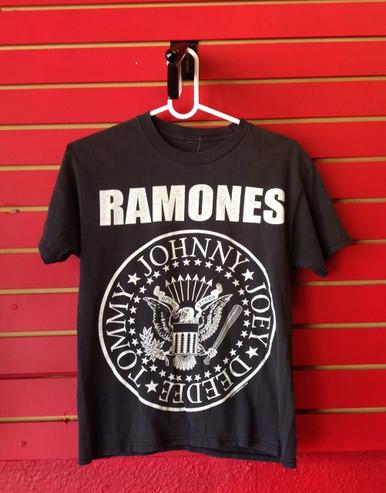Ramones Logo Recent Vintage T-Shirt - Size Small