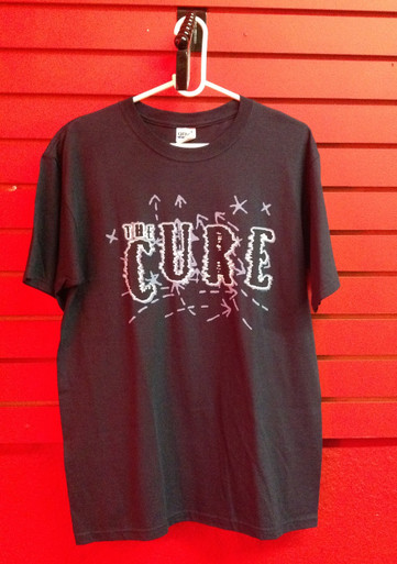 The Cure Logo on Dark Blue T-Shirt