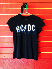 AC/DC Back in Black Girls Slim Cut T-Shirt