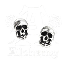 Alchemy of England Death Skull Stud Earrings