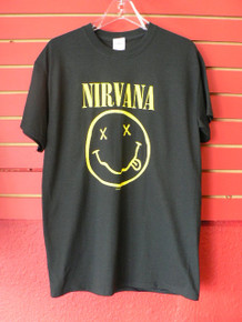 Nirvana Smile Corporate Rock Whores T-Shirt Front