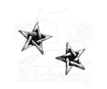 Alchemy of England Pewter Pentagram Stud Earrings