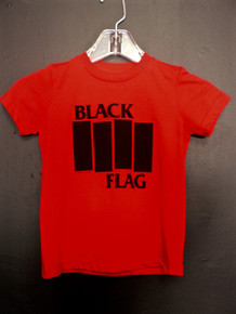 Black Flag Bars Logo Toddler T-Shirt In Red