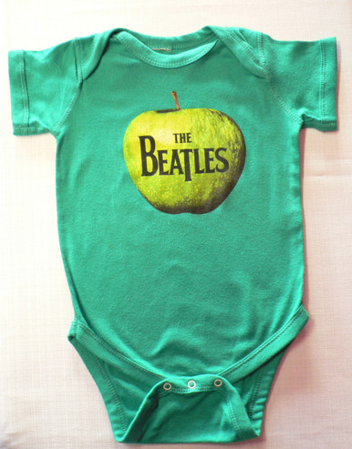Beatles Apple Onesie in Green