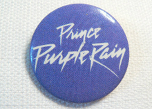Vintage 80s Prince - Purple Rain- Purple and White Logo -  Pin / Button / Badge