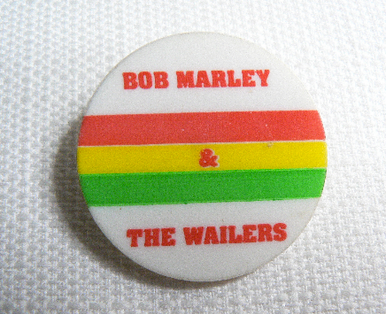 Vintage 1980s Bob Marley and the Wailers Reggae Pin / Button / Badge