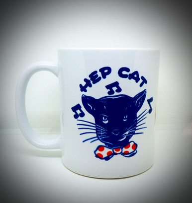 Vintage 1950s Hep Cat / Music / Bow Tie / Beatnik / Jazz - Coffee / Tea / Beverage Mug