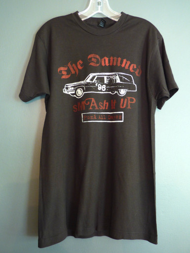 The Damned - Smash It Up Hearse UK Show Flyer T-Shirt