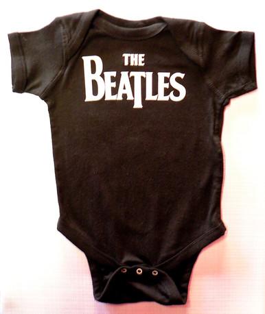 Beatles Logo Baby Onesie in Black