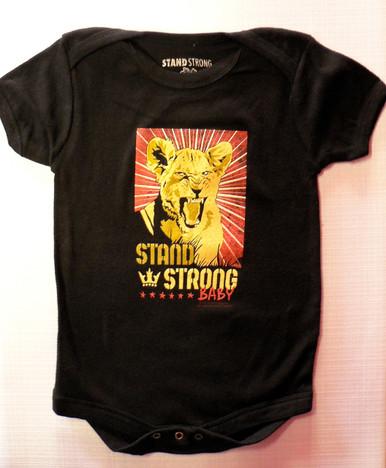 Bob Marley Rasta Lion Stand Strong Baby Onesie