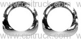 HEADLIGHT BEZELS WITH SEALS CHROME CHEVROLET TRUCK 1955 -1957