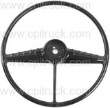 STEERING WHEEL BLACK CHEVROLET GMC TRUCK 1954 - 1956