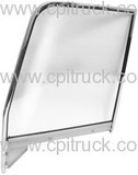 1955-1959 DOOR WINDOW FRAME WITH GLASS CHROME LH CHEVROLET TRUCK