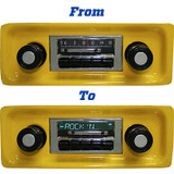 1967-1972 Chevrolet Truck AM/FM Slidebar Radio 300 Watts w/iPod Dock CD Controller USB Flash Drive Player