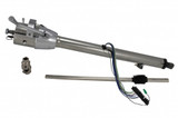 60-66 Flaming River Tilt Steering Column Automatic Column Shift Polished Stainless Late Power Steering