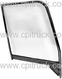 1955-1959 DOOR WINDOW FRAME WITH GLASS PAINTABLE LH CHEVROLET TRUCK