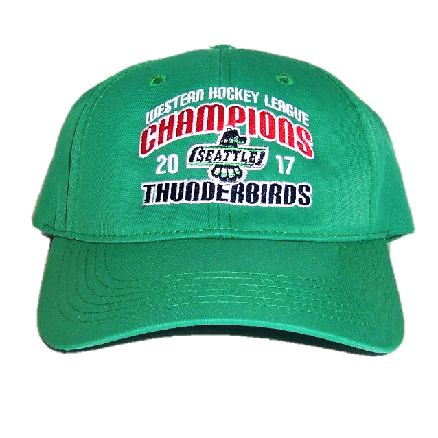 0d925fb85eed0 WHL CHAMPIONS ADJUSTABLE HAT GREEN - 2017 WHL CHAMPION SEATTLE ...