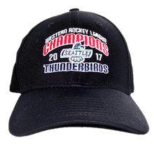 NEW ERA WHL CHAMPIONS FLEX FIT HAT BLACK