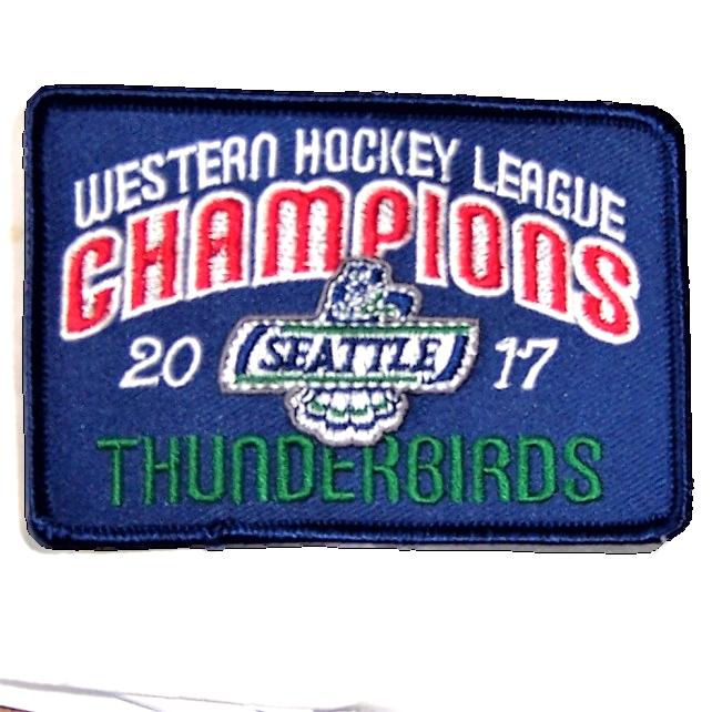 48f14a57b748a WHL CHAMPIONS PATCH - 2017 WHL CHAMPION SEATTLE THUNDERBIRDS