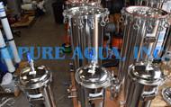 Filtro de Cartucho de Armazenamento em Aço Inoxidável 4 x 350,000, 3 x 260,000 e 3 x 115,200 GPD - Kuwait