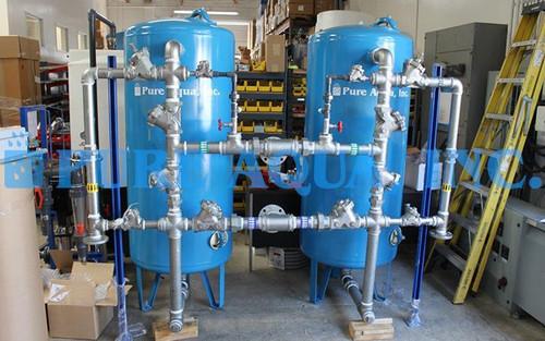 Descalcificador Duplo de Água 70,000 gpd - Kuwait