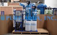 Sistema de Osmose Reversa de Água Salobra Montado em Suporte 9,000 GPD - Egito