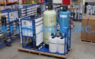 Sistema de Osmose Reversa de Água Salobra com Suporte Montado 15,000 GPD - EUA