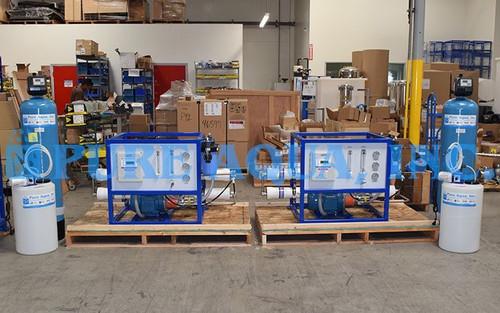 Filtros Comerciais de Osmose Reversa de Água do Mar 2 x 2,100 GPD - Peru