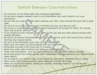Eyelash Extension Care Cards lashstuff.com