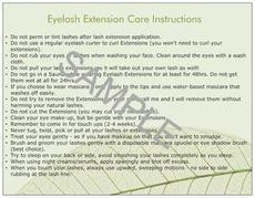 Eyelash Extension Care Cards lashstuff.com