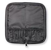10 Pocket Zippered Case, Black