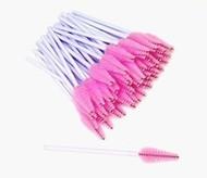 Pink/White Tear Drop Shaped Mascara Brush (50ct)
