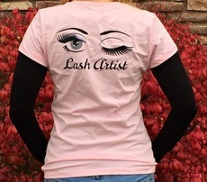 Lash Artist eyelash extension t-shirt LashStuff.com