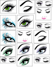 Eyelash Extension Temporary Tattoos