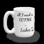 Coffee + Lashes Mug LashStuff.com