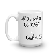 Coffee + Lashes Mug LashStuff.com