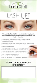 Lash Lift Client Brochure by Lash Stuff