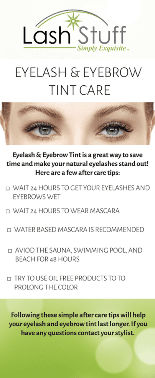 Eyelash and Eyebrow Tint Aftercare Information | Lash Stuff