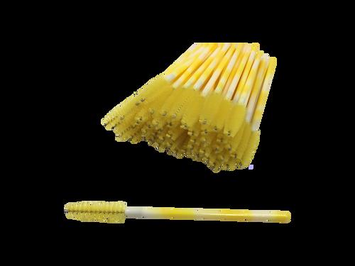 Yellow Swirl Mascara Brushes