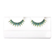 Green Glitter False Strip Eyelashes by Lash Stuff