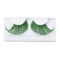 Green/Black Glitter False Strip Eyelashes by Lash Stuff