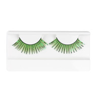 Green False Strip Glitter Eyelashes by Lash Stuff