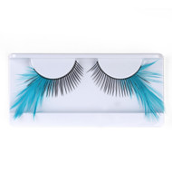 Teal Feather False Strip Eyelashes by Lash Stuff