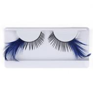 Dark Blue Feather False Strip Eyelashes by Lash Stuff