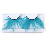 Blue Feather False Strip Eyelashes by Lash Stuff