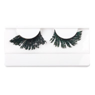 Green Feather False Strip Eyelashes by Lash Stuff
