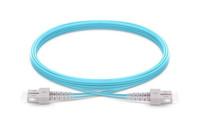 SC UPC to SC UPC Duplex OM3 Armored PVC (OFNR) Patch Cable
