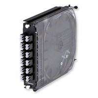 Corning CCH-CS24-D3-P00BE - CCH Pigtailed Splice Cassette, 24 F, LC duplex, black, OM2 (50um)