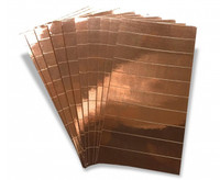 Copper Foil Strips - 10 strips per sheet (10 sheets per pack) 100 pcs
