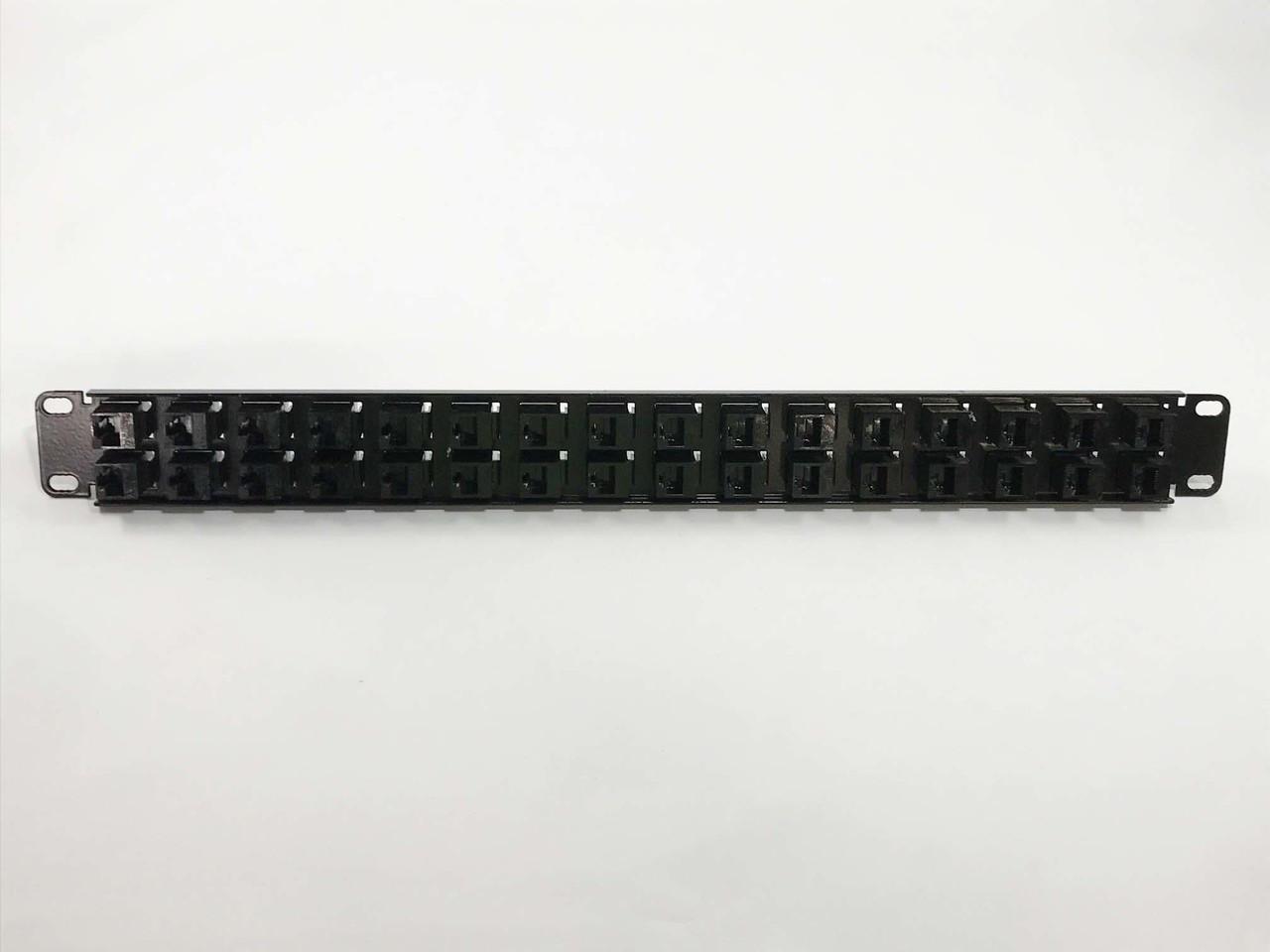 CAT6 32-Port High Density Patch Panel 1 Rack Unit 19